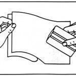 Levante un poco la película y remueva de 15 a 20 cm de protector
